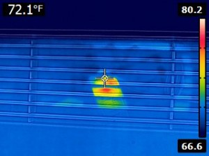 Thermal Imaging a Heating Vent